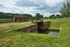 Канал Польша Augustow, Беларусь Стоковые Изображения