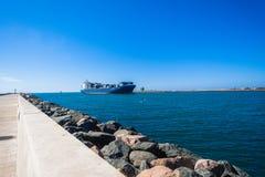 Канал пристаней входа гавани корабля Стоковое Фото