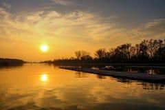 Канал Пловдив rowing Стоковая Фотография