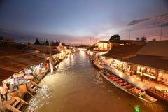 Канал рынка Amphawa, самая известная плавая рынка Стоковое Изображение RF