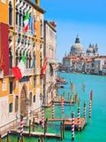 Канал салют della Santa Maria большого и базилики di, Венеция, Италия стоковое фото rf