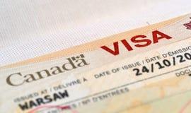 Канадская виза Стоковые Фото