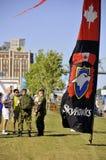 Канадская команда парашюта сил Стоковое Изображение
