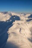 Канадские горы воздушные стоковое изображение