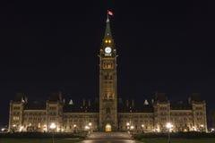 Канадские здания парламента Стоковая Фотография RF