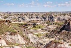 Канадские неплодородные почвы Drumheller, Альберты Стоковая Фотография