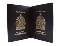 канадские пасспорты Стоковое Изображение