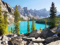 Канадские скалистые горы, озеро морен, Канада Стоковое фото RF
