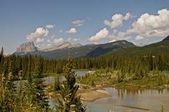 Канадские скалистые горы Стоковая Фотография