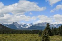 Канадские утесистые горы Стоковые Изображения RF