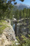 Канадский ландшафт в падениях Athabasca альбатроса Канада стоковая фотография