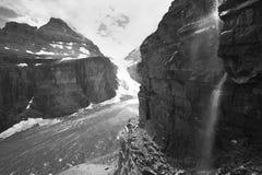 Канадский ландшафт в равнине 6 ледников альбатроса Канада стоковые фотографии rf