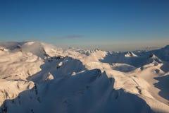 Канадский воздушный ландшафт горы стоковые изображения