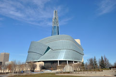 Канадский музей для прав человека Стоковое Изображение RF