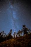 Канадский млечный путь в небе Стоковые Изображения RF
