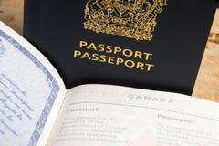 Канадский пасспорт Стоковые Изображения RF