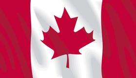 канадский флаг Стоковое Изображение