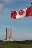 Канадский флаг в Vimy, Франции Стоковое Фото