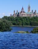 Канадский холм парламента Стоковые Изображения