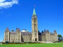 Канадское здание парламента в Оттаве, Онтарио Стоковые Фотографии RF