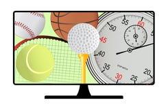 Канал спорта иллюстрация вектора