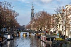 Каналы Амстердама Стоковое Изображение