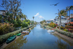 Каналы Венеции, Лос-Анджелес, Калифорния Стоковые Фотографии RF