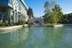 Каналы воды в парке взморья Стоковое фото RF
