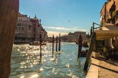 Каналы в Венеции, Италии Стоковая Фотография