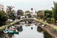 Каналы в Венеции, Лос-Анджелесе, Калифорнии стоковое фото