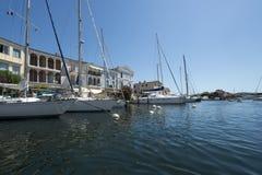 Каналы в порте Grimaud, Франции Стоковая Фотография RF