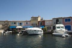 Каналы в порте Grimaud, Франции Стоковые Фото