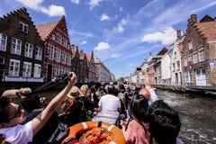 Канал Brugge стоковое фото