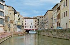 Канал de Ла Robine в Нарбонне Стоковое Изображение