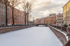 Канал Griboedov в Санкт-Петербурге Стоковые Изображения