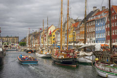 Канал Nyhavn Стоковое Фото