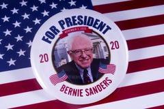 Кандидат в президенты 2020 шлифовальных приборов Bernie стоковое фото rf