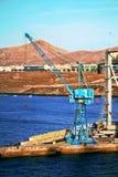 канереечные острова dockside крана Стоковые Фотографии RF
