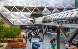 Канереечный взгляд бизнес-центра причала, Лондон Стоковая Фотография RF