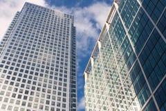 канереечный причал небоскреба london Стоковая Фотография