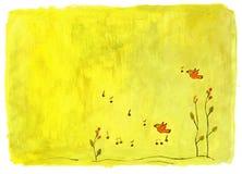 канерейка птицы как пеет иллюстрация штока