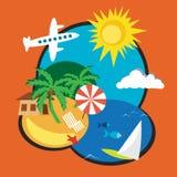 каникула дистантного экзотического острова тропическая Иллюстрация вектора