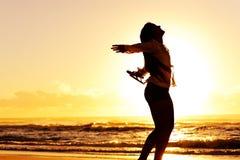 каникула захода солнца танцульки Стоковые Изображения