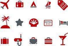 каникула иконы установленная иллюстрация вектора