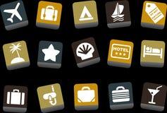 каникула иконы установленная Стоковые Фотографии RF