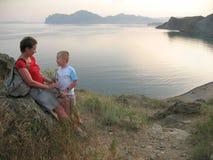 каникула лета семьи стоковое изображение rf