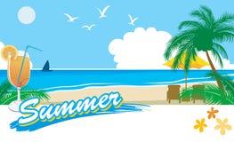 каникула лета 2 пляжей бесплатная иллюстрация
