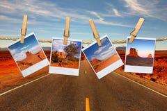каникула перемещения изображений пленки принципиальной схемы поляроидная стоковое фото