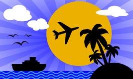 каникула перемещения плаката иллюстрация вектора
