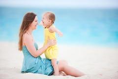 Каникула пляжа семьи стоковое фото